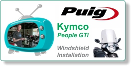 Installation video for PUIG windshield on Kymco People GTi